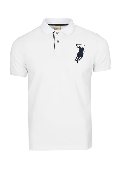 Polo Haus - Eagle Patch Work Design Collar Tee (Beige)