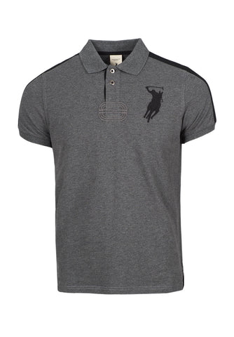Polo Haus - US Eagle Design Collar Tee (Grey)