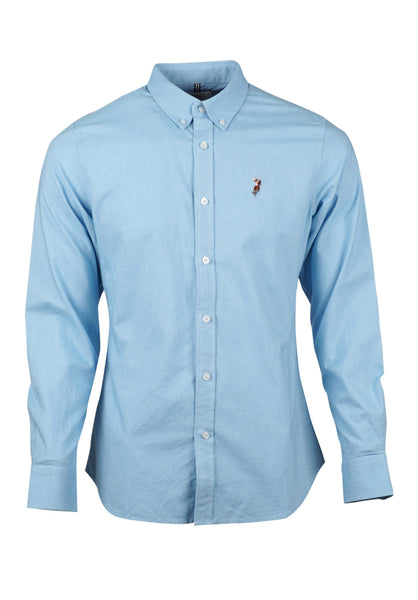 Polo Haus - Solid Color L/S Shirt With Cotton Tape (Blue)