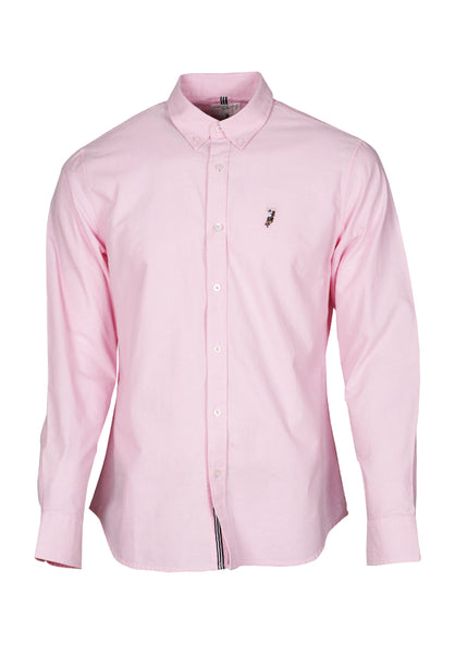 Polo Haus - Solid Color L/S Shirt With Cotton Tape (Pink)