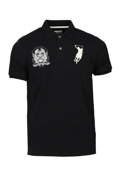 Polo Haus - Indigo - Native American Design Collar Tee (Black)