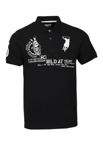 Polo Haus -Indigo - Authentic American Design Collar Tee (Black)