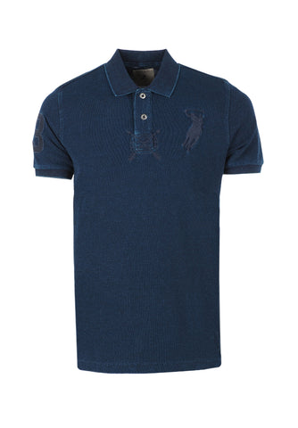 Polo Haus - Indigo - Pigment Dyed Collar Tee (Dark Blue)