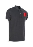 Polo Haus - Basic Melange Range Collar Tee (Grey)
