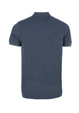 Polo Haus - Basic Melange Range Collar Tee (Dark Blue)