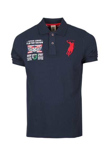 Polo Haus - Ruby Spirit S/S Collar Tee (Dark Blue)