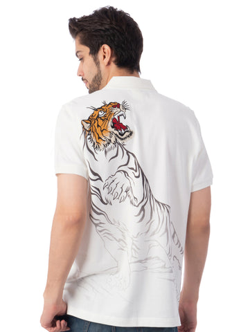 Polo Haus - Flying Tiger S/S Collar Tee (Beige)