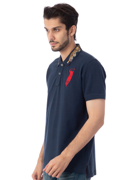 Polo Haus - Flying Tiger S/S Collar Tee (Dark Blue)