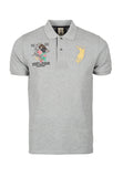 Polo Haus - Eagle Patch Work Design S/S Collar Tee (Grey)