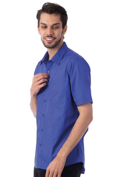Polo Haus - Solid Color S/S Shirt with Pocket (Blue)
