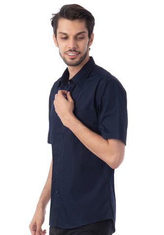 Polo Haus - Solid Color S/S Shirt with Pocket (Dark Blue)
