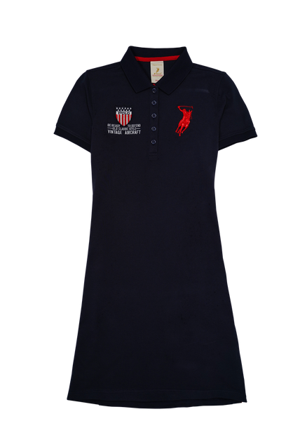 Polo Haus -Ladies Polo Tee Dress Short Sleeves (NAVY)
