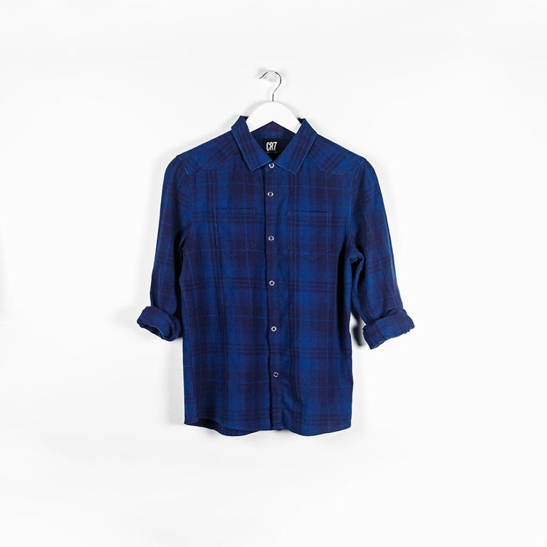 BOYS SHIRT - BLUE MULTI