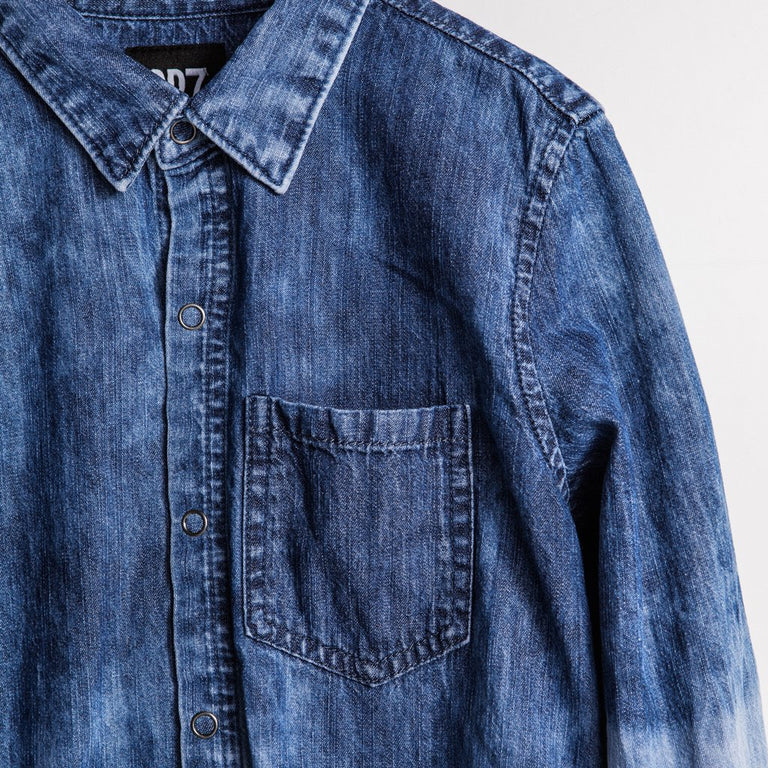THE JONNY OMRÈ - DIP DYE DENIM SHIRT