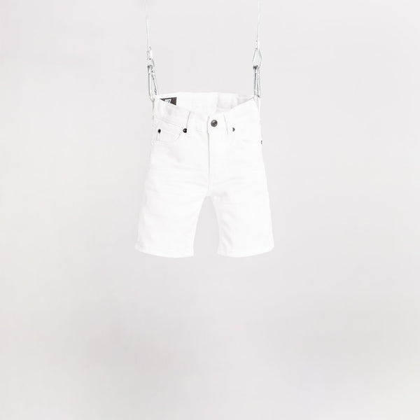 DENIM SHORT - ALPS WHITE