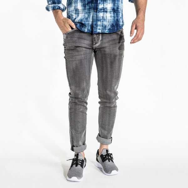 CR7 Denim Type-S Super Skinny - Asphalt - front view