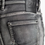 CR7 Denim Type-S Super Skinny - Asphalt - back pocket closeup