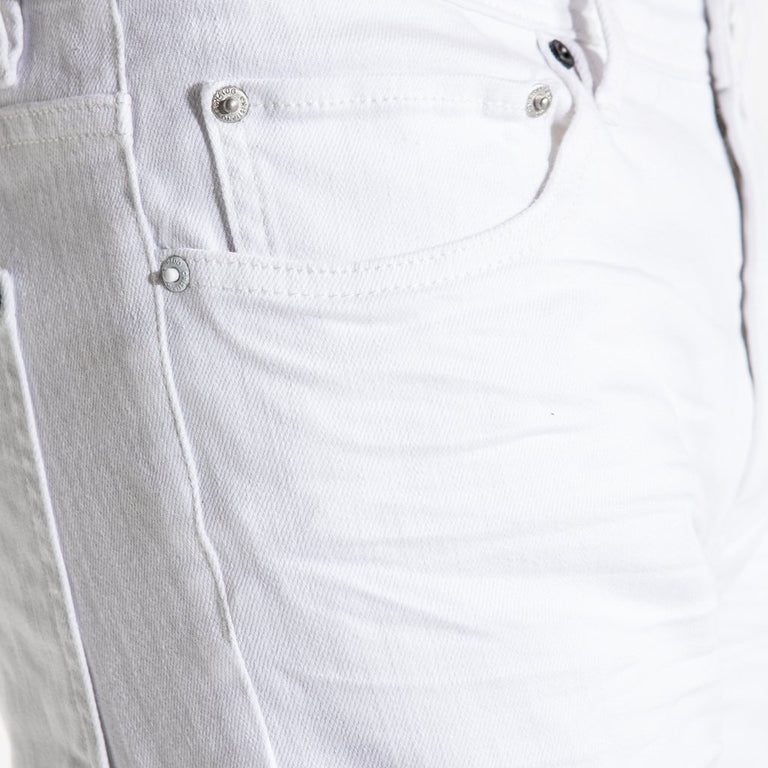 TYPE-S Super Skinny Jean Alps White - front pocket closeup
