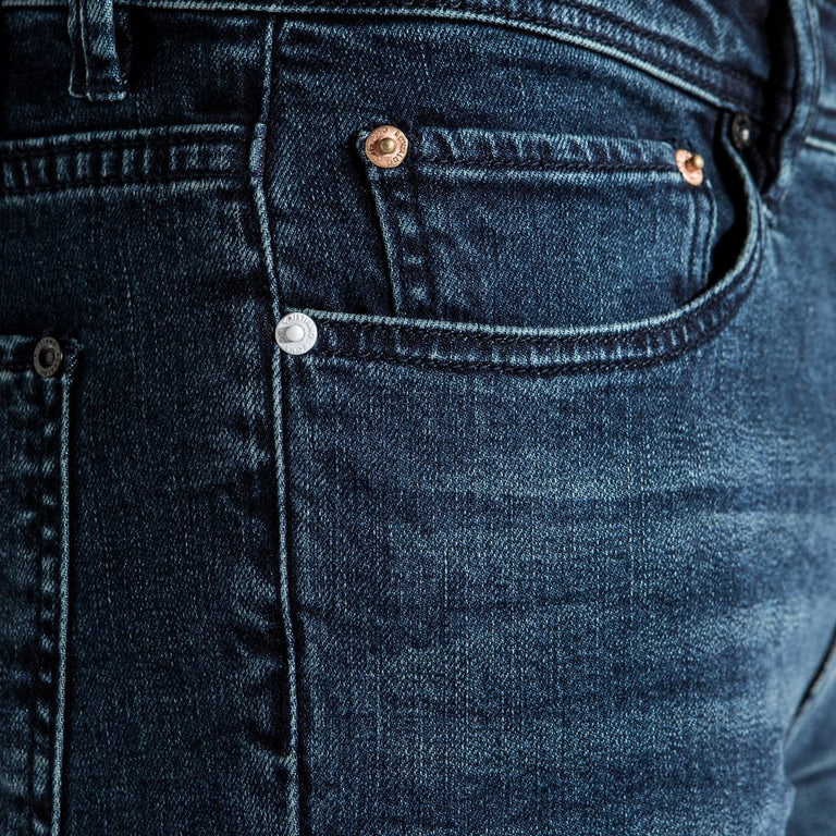 Type-S Super Skinny Jean - Indigo - pocket closeup