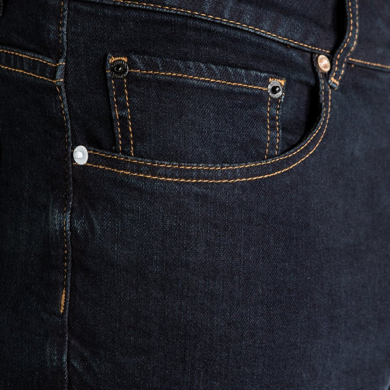 CR7 Denim Type-T Tapered - Indigo - front pocket closeup