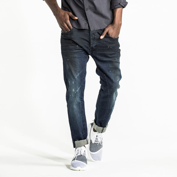 CR7 Denim Type-T Tapered - Navy Resin - front view