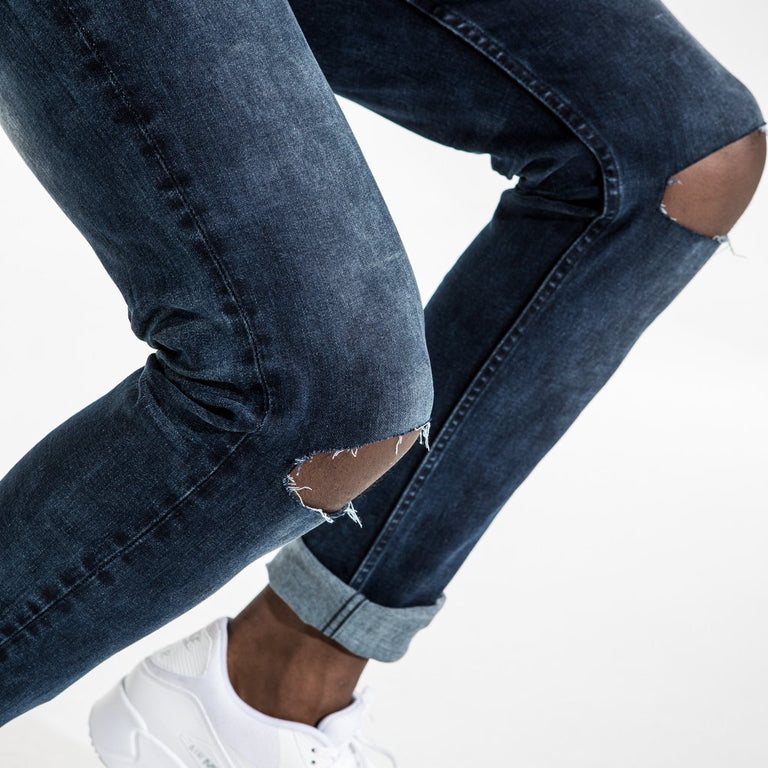 TYPE-S Super Skinny Jean Blue Shade - ripped knees