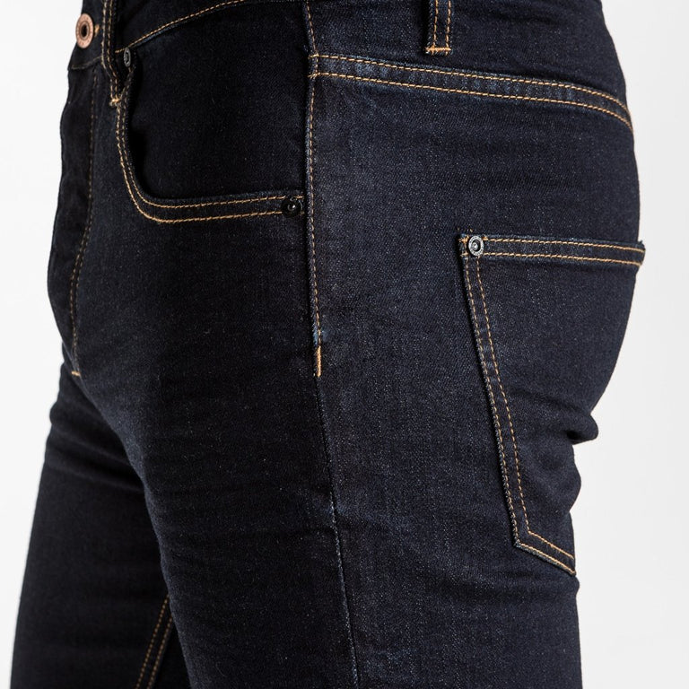 CR7 Denim Type-R Modern Straight - Rinse - details closeup