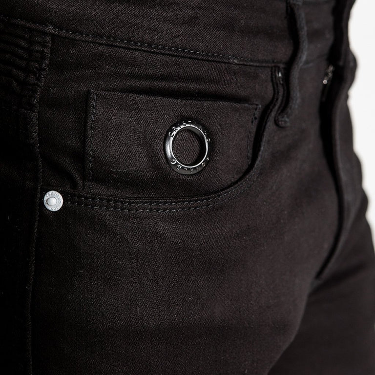 CR7 Denim Type-C Slim Straight - Onyx - front pocket closeup