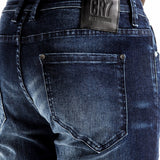 CR7 Denim Type-S Super Skinny - Dark Water - back pocket closeup