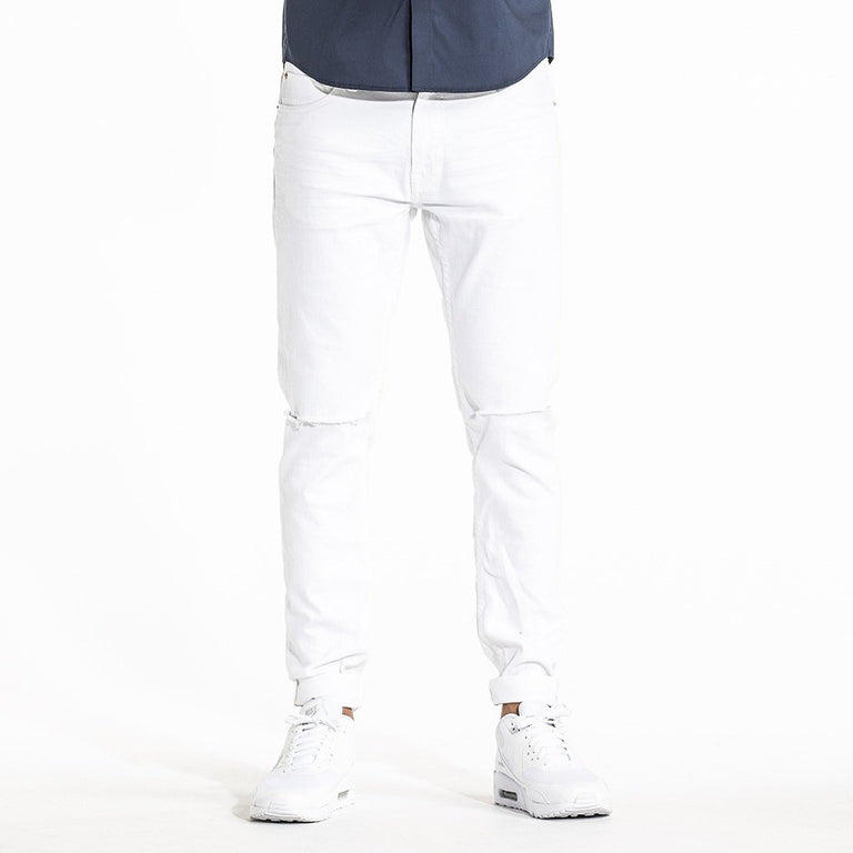 CR7 Denim Type-S Super Skinny - Alps White - front view