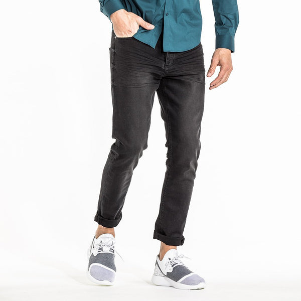 CR7 Denim Type-T Tapered - Ebony - front view