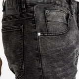 CR7 Denim Type-T Tapered - Gunmetal - front pocket closeup