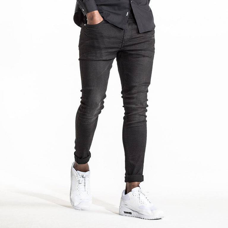 CR7 Denim Type-P Painted on Skinny - Onyx - front view