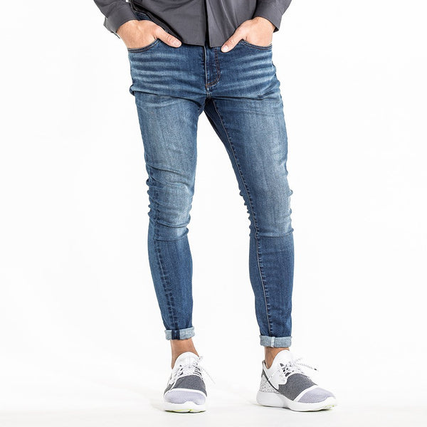 CR7 Denim Type-P Painted on Skinny - Admiral - front view