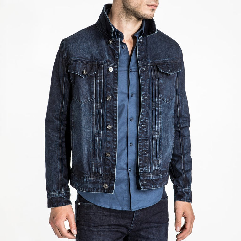 CR7 Denim Trucker Jacket - Rinse - front view