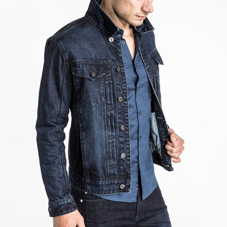 CR7 Denim Trucker Jacket - Rinse - side view