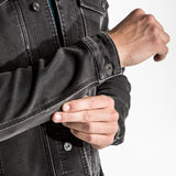 CR7 Denim Trucker Jacket - Charcoal - pocket closeup