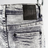 CR7 Junior Type-S Skinny Jean Stone - back pocket closeup
