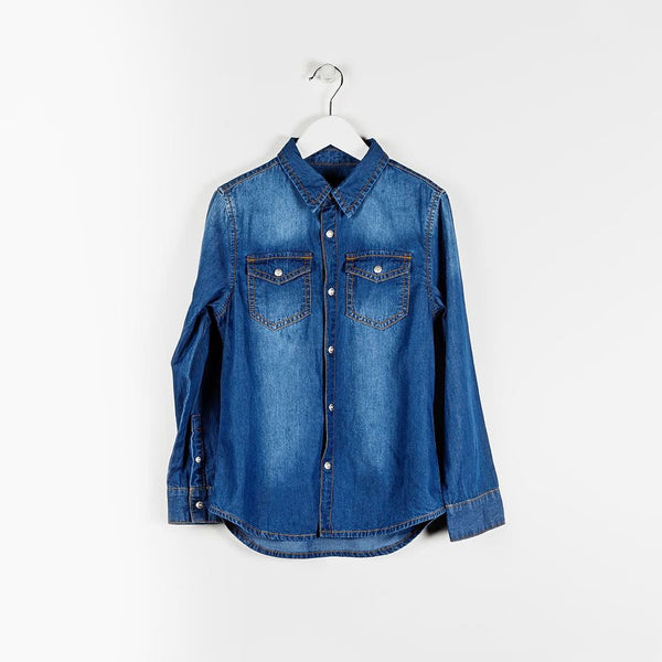 BOYS SHIRT - ARCADE BLUE