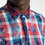 CR7 TYCO Shirt - Red Multi - front closeup