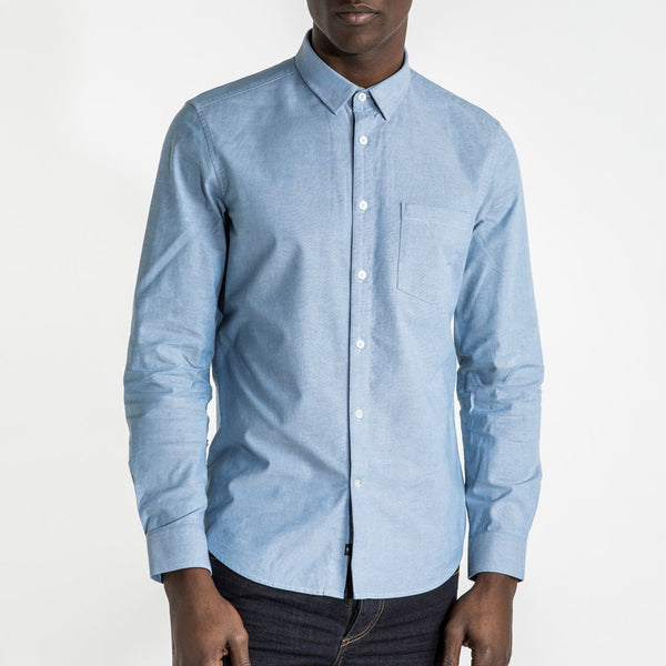 CR7 Denim Cypher Shirt Grey Blue - front view