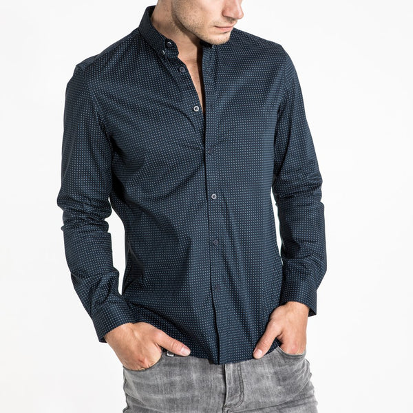 LIGHTNING SHIRT - NAVY PAISLEY