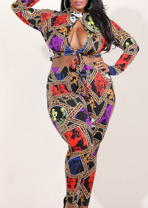 Glamour Girl Set Wild Print
