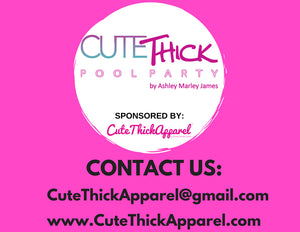 Sponsor Package - Cute Thick Pool Party - Multiple Cities