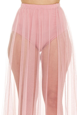 Pink Dream Sheer Maxi Skirt