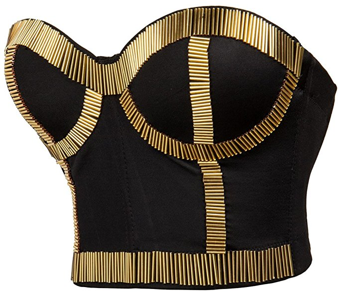 Bustier Top Plus Size - Gold Stitch