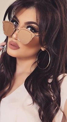 Trendy Pink Mirror Futuristic Sunglasses Shades