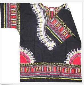 Dashiki Black- One Size