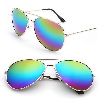 Rainbow Reflecting Mirror Sunglasses
