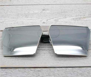 Square Mirror Sunglasses - Chrome/Silver